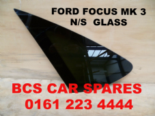 FORD FOCUS  MK 3  PASSENGER SIDE REAR 1/4 GLASS  / WINDOW  ( DARK TINT )    2005 - 2006  2007  USED